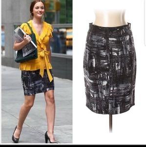 Vince silk pencil skirt
